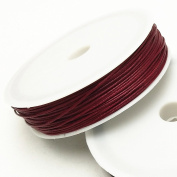 """Dandan DIY 32yards/1roll 1mm(0.04"""") Wine Wax Cord for Sewing & Jewellery Making Necklace Bracelet Crafting Beading Waxed Cotton Cord Thread"""
