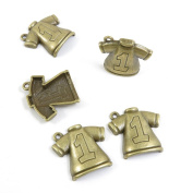 Price per 10 Pieces Jewellery Making Supply Charms Findings Filigrees Z2TW1T Short Shirt Antique Bronze Findings Beading Craft Supplies Bulk Lots