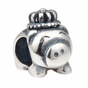 925 Sterling Silver Pig Charm Pet Charm Animal Charm Friend Charm Lucky Charm for Pandora Charms Bracelet