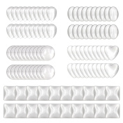 100 pcs Glass Dome Cabochons Clear Cabochons Tiles (Round, Oval, Square, Water Drop, Heart-shape) for Cameo Pendants Photo Craft Jewellery Making