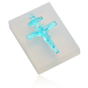 WYD Jewellery Beading Casting Mould,Clear Resin Casting Mould Crystal Cross Pendant Handmade Soap Mould Unicorn Gift