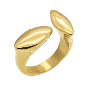Brand new fashion rings for women charming couple leaves turn golden ring Bague adjust a girl an engagement ring.