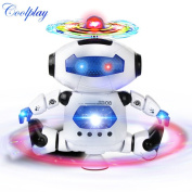 Smart Space Dance Robot Electronic Walking Toys With Music Light Gift For Kid