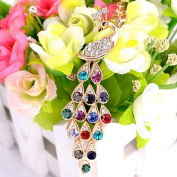 Fullfun Peacock Long Necklace Pendant,Women Fashion Link Sweater Chain Gifts