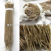 1MM(DM) (50 Yard/Packet) Bullion/Nakshi Metallic French Wire in Gold Colour