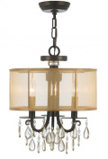 Crystorama 5623-EB 5195-EB-CL-SAQ Transitional Five Light Mini Chandelier