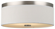 Forecast Lighting F615036NV Cassandra 2 Light Flush Mount, Satin Nickel