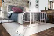 Novogratz Bellamy Pink Metal Bed, Twin. Available in Multiple Sizes.