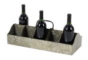 GwG Outlet Metal Galvinized Wine Holder 50cm W, 18cm H 70564