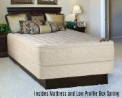 Continental Sleep Foam Encased Fully Assembled Eurotop 36cm Orthopaedic Mattress and 13cm Box Spring, Full XL