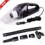 U-Kiss Portable Car Vacuum Cleaner 12V Handheld Auto Vacuum Cleaner, Lightweight Car Cleaner, High Power Dirt Dust Cleaner, Black
