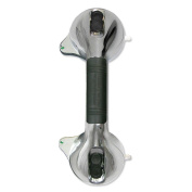 Grip Handle with Suction Cups - Safety Indicator - ABS Plastic, Chrome Colour by ET