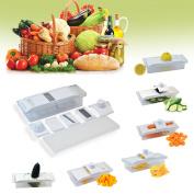 5 in 1 Mandoline Julienne Slicer Grater Juicer Grinder Fruit Vegetable Kitchen Tool