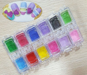 Beauties Factory 12 Colour 3D Sugar Candy Effect Powder Nail Art Decoration