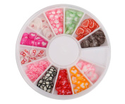 1 Box Fruit/Heart-Shaped Soft Pottery Nail Pieces - DIY Jewellery Accessories Fruit Film Food Accessories Materials