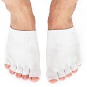 Dr.Koyama Best SPA Pedicure Socks Gel Lined Toe Separating Moisturising Socks Deeply Hydrate Soften Repair Cracked Dry Feet Bunion Sock for Hammered Big Toe Pinky Toe Ball of Foot Diabetic Foot Care
