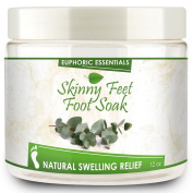 • Euphoric Essentials Skinny Feet Foot Soak reduces swollen feet and ankles