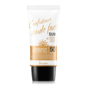Ladykin Confidence nude face Moisturising Sun Care Sunscreen Lotion 40ml Broad Spectrum (UVA & UVB Ray) SPF 50+PA+++ Smooths your skin and Helps protect sunburn. Made In Korea