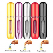 OWM 5ml Travel Scent Pump Portable Spray Case Aluminium Mini Empty Refillable Perfume Atomizer Bottle