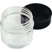 10PCS 30ML Plastic Refillable Cosmetic Storage Containers-Transparent Makeup Cream Powder Bottles With Black Screw Cap