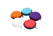 6PCS Macaron EVA Jewellery Storage Box-Earphone Earbuds Collection Container Case with Zipper Headphone Data Cable Package Bag