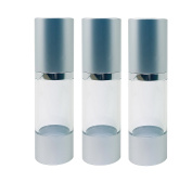 Perfume Studio Airless Pump Bottle Refillable; 30ml. Ideal Airless Dispenser Container for Travel Made from BPA Free Clear Durable Plastic.
