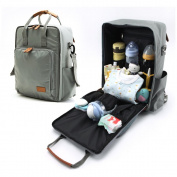 Fitmyfavo Nappy Bag for Dad and Mom - Weekender Tote / Daypack / Travel Backpack - Added Bonus with Stroller Straps, Changing Pad and Insulated Bag