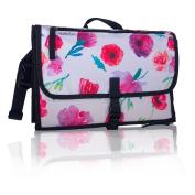 Portable Baby Changing Kit w/ Baby Wipe Holder - Travel Changing Station - GubbleBum - Floral Design