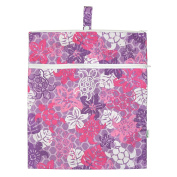 green sprouts by i play. Waterproof Travel Wet Bag, Lavender Turtle, One Size
