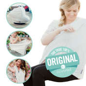 Covered Goods - The Original Multi Use Maternity Breastfeeding Nursing Cover, Infinity Scarf, and Car Seat Cover - Heather Grey