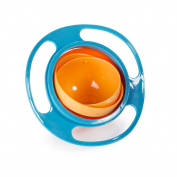 BestWare Kids Gyro Bowl 360 Degrees Rotation Bowl Non Spill Feeding Bowl Toy Tableware Avoid Spill For Kids Toddlers blue