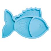 brinware Silicone Divider Plate Blue Fish, Blue