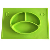 Creazy Silicone Tray Baby Placemat Crying Face Shape Grid Plate Snack Plate