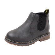 Honhui Fashion Baby Boys Girls Martin PU leather Sneaker Boots Children Casual Shoes (29