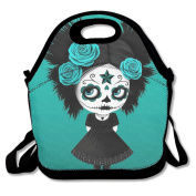 Reusable Picnic Lunch Bags Lunch Tote Goth Doll Lunch Box For Men Women Adults Kids Toddler Nurses