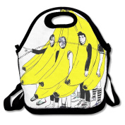 Reusable Picnic Lunch Bags Lunch Tote Banana Humans Lunch Box For Men Women Adults Kids Toddler Nurses