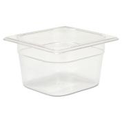 Rubbermaid Commercial Cold Food Pans, 1 2/2.8l, 6 3/8w x 6 7/8d x 4h, Clear