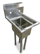 EQ 1 Compartment Commercial Kitchen Sink Stainless Steel 38cm x 50cm X43.190cm
