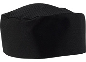 Chef Hat, 2 Pcs Hommekit Black Chef Beanie - Adjustable Hook and loop Chef Headwear One Size Fits Most
