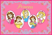 8 X 11 Girls Fun Childrens Room Bedroom Five Princess Pink Area Rug Non Skid