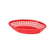 TableCraft 1084R Red 28cm - 1.9cm Jumbo Oval Basket - Dozen