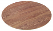 Yanco WD-312 Round Wooden Tray, 30cm Diameter, Melamine, Pack of 12