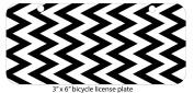 Black & White Chevron Design Mini 7.6cm x 15cm Aluminium Licence Plate