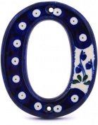 Polish Pottery Hanging Number Zero (10cm ) made by Ceramika Artystyczna