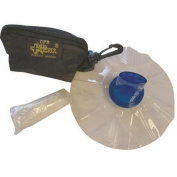 Life Mask CPR Protection, Compact Barrier in Keychain Bag, Black By Tabletop King