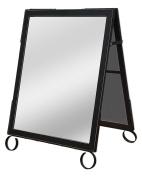 Cohas EZ Change 60cm by 90cm Sidewalk A-Frame Sign includes 60cm by 70cm Sandwich Board Set, Black Frame, Sandwich Boards