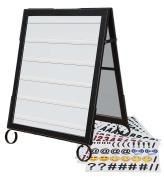 Cohas EZ Change 60cm by 90cm Sidewalk A-Frame Sign includes 60cm by 70cm Message Board Set, Black Frame, White Boards