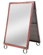 Cohas EZ Change 70cm by 100cm Sidewalk A-Frame Sign includes 60cm by 90cm Sandwich Board Set, Cherry Frame, Sandwich Boards