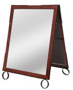 Cohas EZ Change 60cm by 90cm Sidewalk A-Frame Sign includes 60cm by 70cm Sandwich Board Set, Cherry Frame, Sandwich Boards