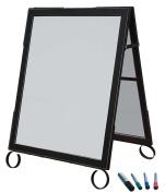Cohas EZ Change 60cm by 90cm Sidewalk A-Frame Sign includes 60cm by 70cm Marker Board Set, Black Frame, White Boards